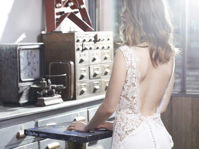 Robe de mariée dos nu - modèle Fes