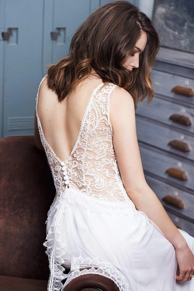 Robe de mariée dos nu - modèlePetra