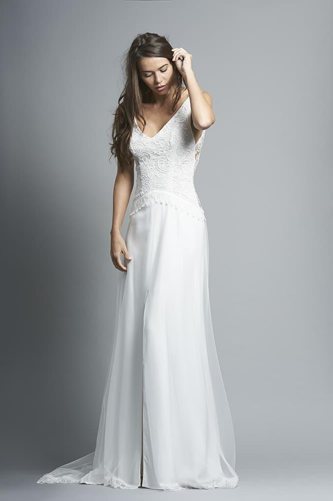 Robe de mariée sur mesure - modèle Petra