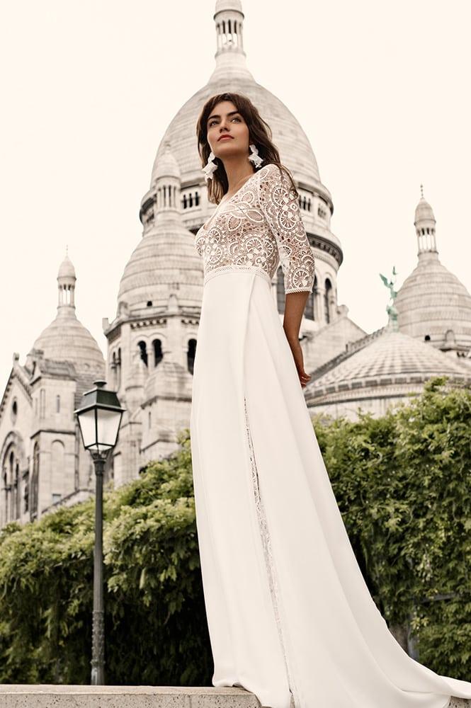 Robe de mariée made in France - Modèle Batignolle