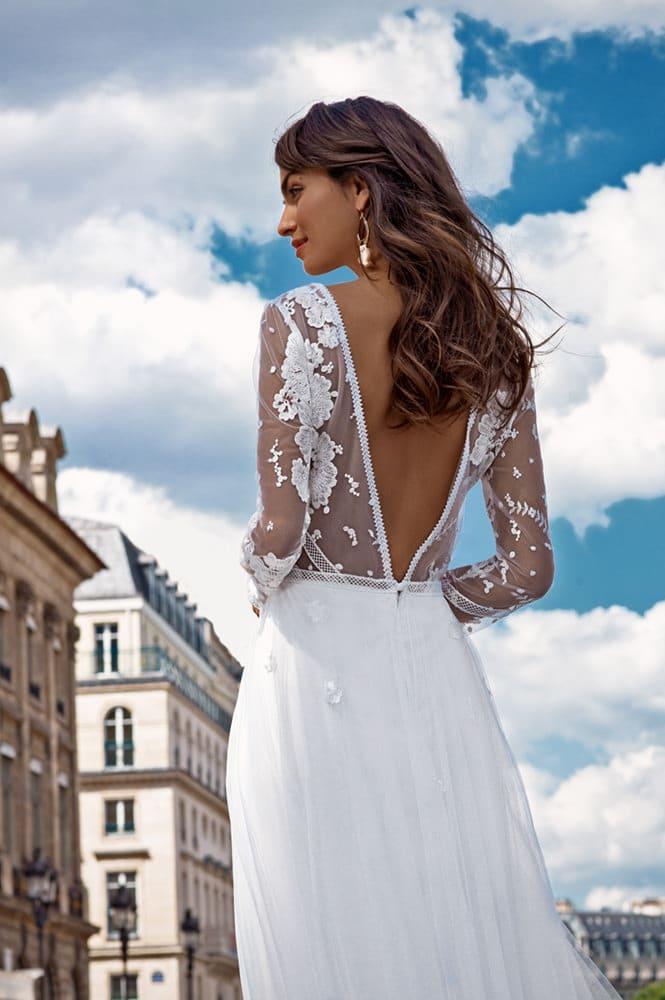 Robe de mariée made in France - Modèle Malesherbes
