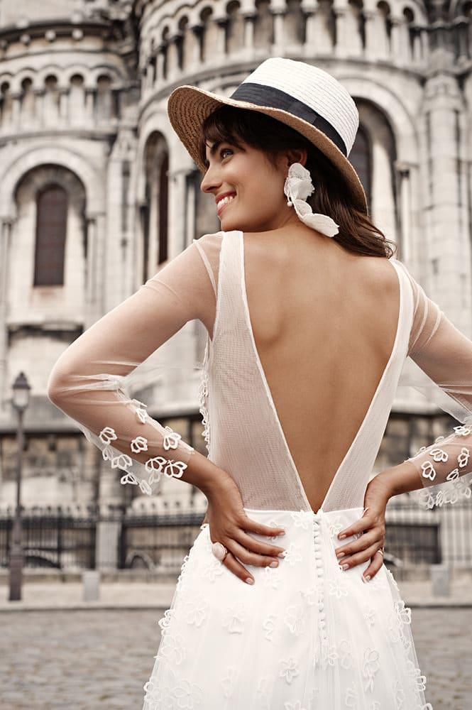 Robe de mariée made in France - Modèle Tiquetonne